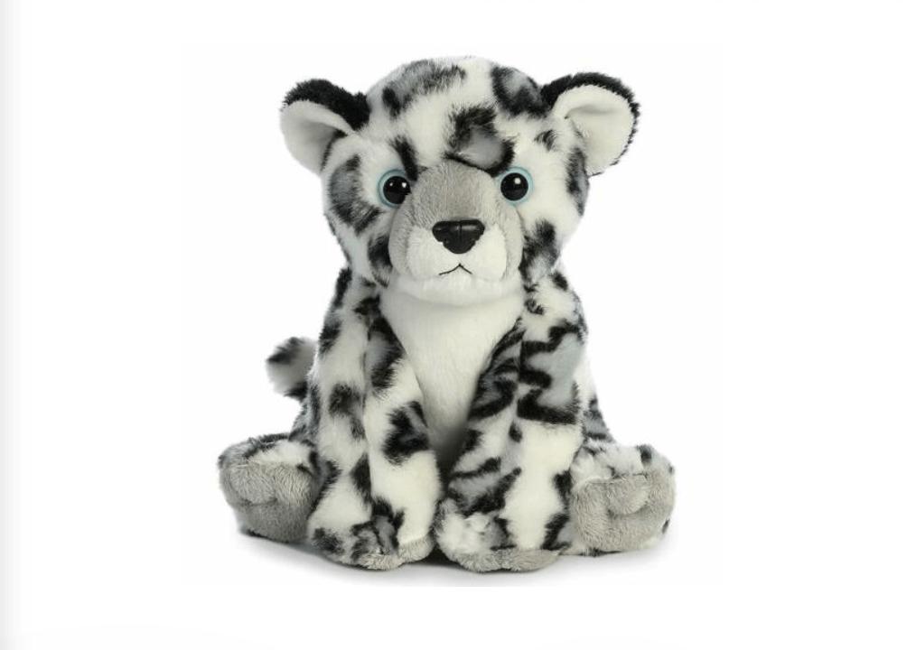 snow leopard plushie
